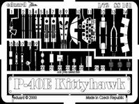 Фототравление 1/72 P-40E Киттихок (рекомендовано для Academy)