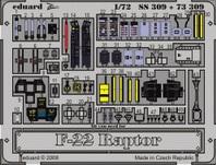 Фототравление 1/72 F-22 Рептор (цветная, рекомендовано для Revell)