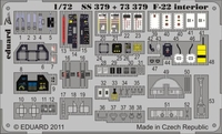 Фототравление 1/72 F-22 Рэптор интерьер (рекомендовано для Fujimi)