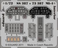 Фототравление 1/72 Ми-4 интерьер (рекомендовано для HOBBYBoss)