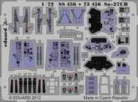 Фототравление 1/72 Су-27УБ интерьер (цветная, рекомендовано для Trumpeter)
