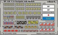 Фототравление 1/35 американские знаки отличия и медали ВОВ