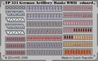 Фототравление 1/35 цветная, знаки отличия немецких артилеристов периода ВОВ
