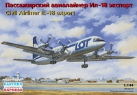 Пассажирский авиалайнер Ил-18 экспорт / Civil Airliner IL-18 export