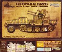 Тяжелый военный трактор sWS с 2 см зенитной пушкой