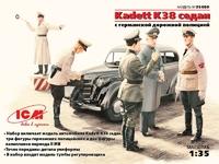 Kadett K38 седан, с германской дорожной полицией