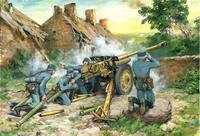 Германская противотанковая пушка 7,62 cm Pak 36(r) с расчётом