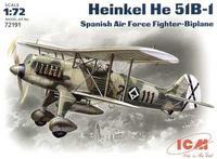 Хейнкель Не-51 В-1 истребитель-биплан ВВС Испании