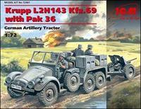 Немецкий трактор Krupp L2H143 Kfz.69 с пушкой PaK-36