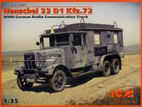 Германский автомобиль радиосвязи ІІ МВ Henschel 33 D1 Kfz.72