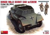 Бронеавтомобиль Динго Мк.2 с экипажем Pz.Kmpf. Mk.I 202(e)