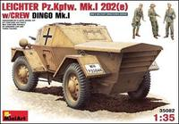 Бронеавтомобиль Leichter Pz.kpfw. 202(e) с экипажем (Динго Mk.I)