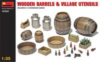 Деревянные бочки и сельская утварь