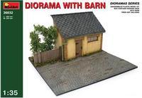 Диорама с сараем