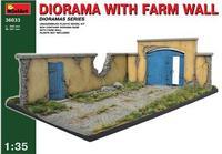 Диорама с забором фермы