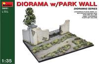 Диорама с парковой стеной