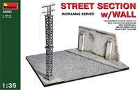 Фрагмент улицы со стеной / Street section with wall