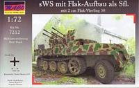 Немецкий трактор sWS с немецким 20-мм зенитным орудием Flak-Vierling 38