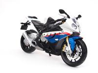 Модель мотоцикла BMW S1000RR (бело-голубой)