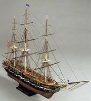 Сборная деревянная модель корабля USS Constitution