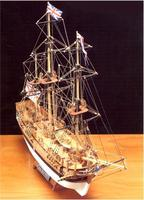 Деревянная модель английского корабля HMS Bounty (Баунти)  XVII