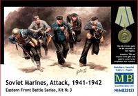 Советские морские пехотинцы, атака, 1941-1942 гг. Восточный фронт, набор 3