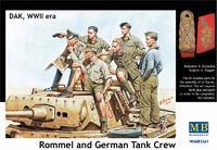Фигурка Роммела с танковым экипажем