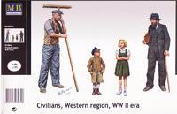 Фигурки людей западного региона, времен Второй Мировой войны.