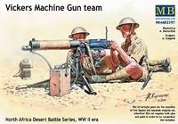 Викерс пулеметный расчет , Северная Африка Пустыня битва серии Второй мировой войны