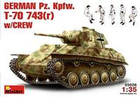 Немецкий танк Pz. Kpfw.743(r) с экипажем