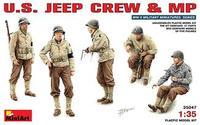 Американский экипаж джипа и военная полиция