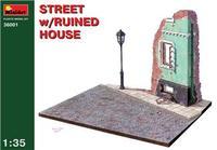 Улица с разрушенным домом