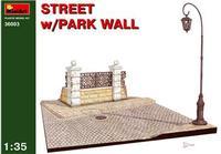 Улица с парковой оградой