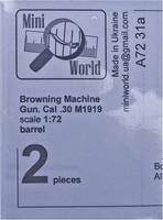 2 ствола  для пулемёта М1919 «Браунинг», кал. 30