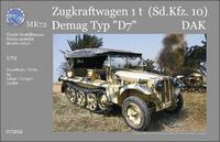 Германский полугусеничный тягач Sonder- Kfz. 10 Demag DAK