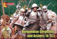 Бургундские сержанты и лучники, XIV-XV века