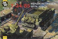 MW7212 T-34-85 Soviet WWII repair retriever with winch