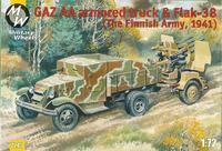 Бронемашина на базе автомобиля ГАЗ-АА и зенитная пушка Flak-38