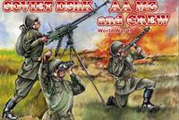 Soviet DShK AA MG and crew