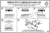 PE7241 KV-1s 608mm lightened tracks set. cat#7241
