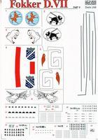 Декаль для истребителя Fokker D VII Part 2, 3 sheets