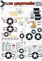 Декаль для истребителя P-38 Lightning Part 2
