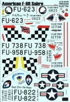 Декаль для самолета F-86E Sabre, Part 1