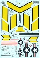 Декаль для самолета F-86E Sabre Technical stencils