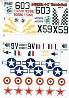 Декаль для истребителя Republic P-47 Thunderbolt Part 2