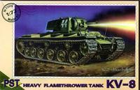 Пластиковая модель советского огнеменого танка КВ-8