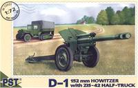 PST72031 D-1 152mm howitzer with ZiS-42 halftruck