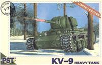 Сборная модель танка КВ-9
