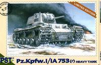 Масштабная модель немецкого тяжелого танка Pz.Kpfw I/IA 753 (r)
