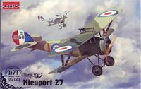 Пластиковая модель самолета Ньюпорт 27c1